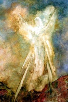The Appearance, Angel Art by Marina Petro, painting by artist Marina Petro