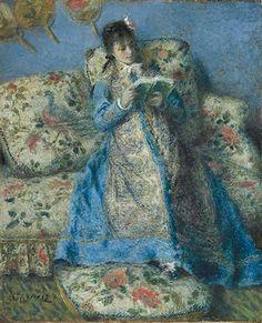 Portrait of Madame Monet (Madame Claude Monet Reading), c1874, by Pierre-Auguste Renoir