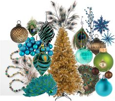 Search out Peacock Christmas ornaments etc. for Peacock Party Decorations… Peacock Christmas Tree, Blue Christmas, Christmas Holidays, Christmas Bulbs, Peacock Ornaments, Christmas 2017, Christmas Stuff, Xmas Theme, Christmas Themes