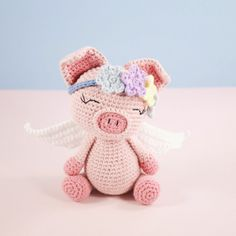 Amigurumi crochet cute pig - Pippa the pig PATTERN ONLY (English)