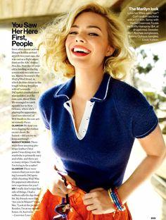 Margot Robbie by Peggy Sirota for Glamour US November 2013