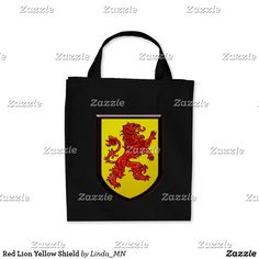 Red Lion Yellow Shield Tote Bag