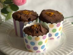 Low FODMAP Chocolate and Orange Cupcakes