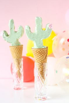 Dreaming of cactus on a rainy spring day. These cactus ice cream cones are a perfect way to welcome in summer. It is coming so soon! I love the season of warm weather, sweet melty treats, and lazy days of rest. Let's make it even better with this fun take on an everyday ice cream cone. …