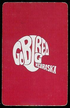 1973 Nebraska Playing Card back