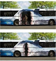 National Geographic - guerilla advertising defiantly worth looking at for this brief.