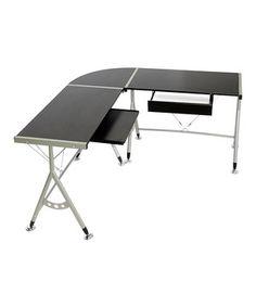 Look at this #zulilyfind! Elburn L-Shaped Modern Computer Desk by Baxton Studio #zulilyfinds