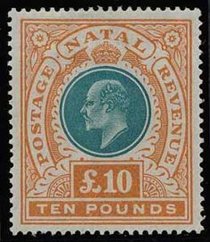 Natal postage stamp Union Of South Africa, Uk Stamps, Crown Colony, King Edward Vii, Vintage Stamps, British Colonial, Penny Black, Empire, Stamp Collecting
