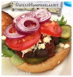 Pullantuoksuinen koti: Grillihampurilaiset - helposti herkkua pöytään. Burgers in grill.
