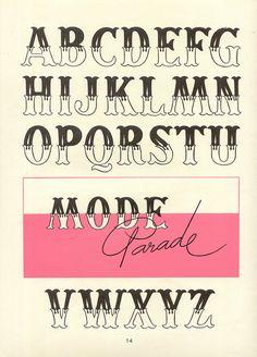 lettering, typography, font, type, retro, vintage, circus, alphabet