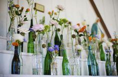 {It's in the Details} Vintage Bottles in Wedding Decor + A DIY