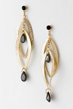 Jet Amara Earrings on Emma Stine Limited