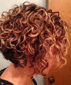 Short curly hair is so liberating, right? Amazing curly pixel cuts, bob hairstyles for curly hair types [Read the Rest] → Wavy Bob Hairstyles, Short Curly Bob, Haircuts For Curly Hair, Curly Hair Cuts, Short Hair Cuts, Perms For Short Hair, Spiral Perm Short Hair, Curly Hair Styles, Front Hair Styles