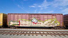 Train Art, Rolling Stock, House Wall, Ho Scale, Model Trains, Graffiti Art, Creative Art, Murals, Packaging Design