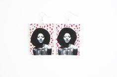 """""""Pam Grier earrings""""  #kltart  #pamgrier #foxybrown #afro #blackgirlsrock #earrings #jewelry"""