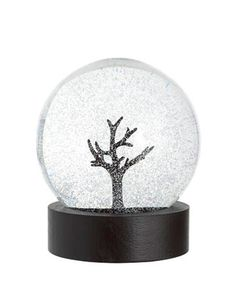 Snow Globe - Branch and falling snow
