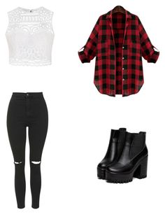 """5sos"" by ambrine-77 on Polyvore featuring mode, Ally Fashion et Topshop"