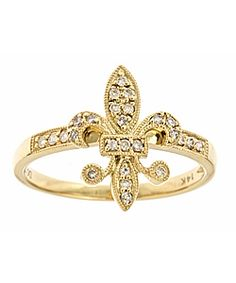 KC Designs Fleur de Lis Ring at Royal Jewelers Louisville KY 14k Gold Jewelry, Diamond Jewelry, Max And Chloe, Mardi Gras, Givenchy, Diamond Are A Girls Best Friend, White Gold Rings, Dior, Ring Designs