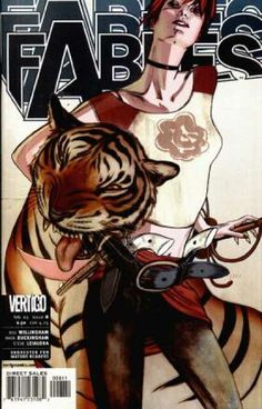 Fables 8 - Adult Comic - Tiger - Small Chested Woman - Pearl Handled Guns - Whip - James Jean