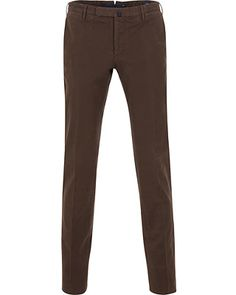 Incotex Slim Fit Comfort Chino Brown hos CareOfCarl.com