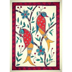 Sold!! Bought by a gentleman as a Valentine's Day gift for his love at Mala Galleria in Kenneth Square. Thank You.#orginalartwork#original#indianfolkart #indianfolkpainting #birds#art#artsy#artworkbyrinalparikh#painting#sold#malagalleriakennettsquare#