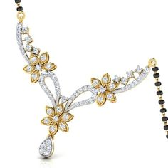 Buy Diamond Mangalsutra - CaratLane.com