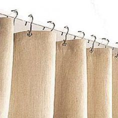 A Selection Of The Different Colours Of Hemp Shower Curtains