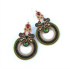 Mexican Earrings Soutache Earrings Native Earrings by AdityaDesign