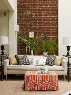 59 Cool Living Rooms With Brick Walls | DigsDigs