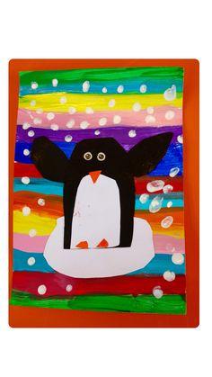 Winter Crafts For Kids 2020 Christmas Art For Kids, Winter Crafts For Kids, Winter Kids, Kindergarten Art, Preschool Art, Winter Thema, Polo Norte, Penguin Art, Winter Art Projects