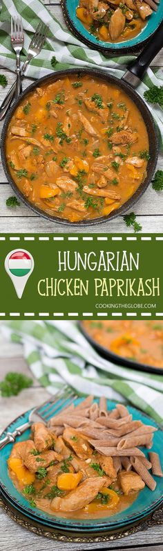 Hungarian Chicken Paprikash is basically a paprika flavored chicken. This dish… (Favorite Pins Chicken Casserole) Slovak Recipes, Hungarian Recipes, New Recipes, Dinner Recipes, Cooking Recipes, Hungarian Food, Hungarian Cuisine, European Cuisine, Recipies