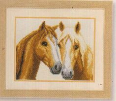 click here to view larger image of Horses (counted cross stitch kit).    /So pretty EL./