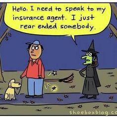 Funny halloween insurance cartoon