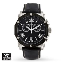 Le Vian® SoHo Black Diamond Chronograph Timepiece