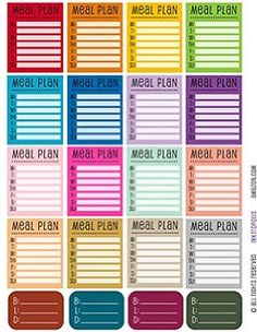free planner stickers for meals - Google Search