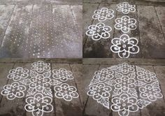 Rangoli designs/Kolam: S.No. 41 :-21-11 pulli kolam- interlaced dots kolam,