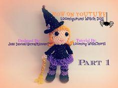 Rainbow Loom Witch Part 1 of 2 - Loomigurumi / Amigurumi - Looming WithCheryl - YouTube
