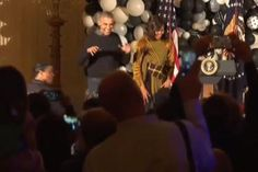 The Obamas dancing (Michelle Obama/YouTube)
