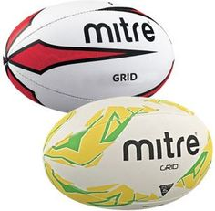 MITRE GRID RUGBY BALL | Asll.co.uk Rugby Equipment, Rugby Sport, Soccer Ball, Grid, Store, Polyvore, Tent, Shop Local, Soccer
