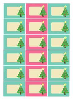 Etiquettes cadeaux Noël à imprimer