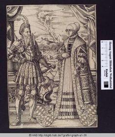 Bayerischer Fürst und Gemahlin. Jost Amman, 1563