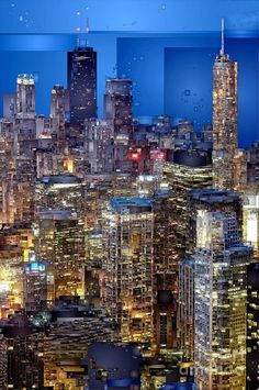 Chicago. Illinois Digital Art by Rafael Salazar