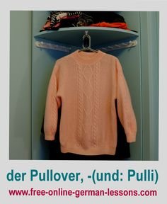 Learn how to say sweater in German.
