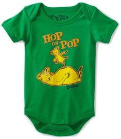 """Dr. Seuss Hop On Pop """"Hop on Pop"""" Infant Boys Bodysuit Size 3M-24M (12M) Dr. Seuss, http://www.amazon.com/dp/B008VDM62S/ref=cm_sw_r_pi_dp_6x-irb116P459; Fathers day outfit for gift"""