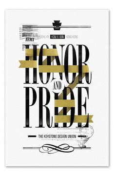 Use of typography and ribbons to create something very retro and interesting
