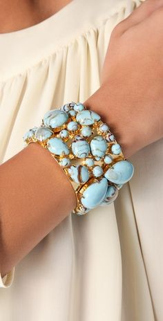beautiful blue and gold bracelet