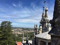 #travel #portugal #sintra #quintadaregaleira #castel #view