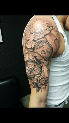 10 spectacular half a sleeve tattoo ideas tattoos tattoo wings tattoo art half sleeves tattoo designs Easy Half Sleeve Tattoos, Half Sleeve Tattoos Designs, Forearm Sleeve Tattoos, Best Sleeve Tattoos, Shoulder Tattoos, Tattoo Designs Men, Tattoo Sleeves, Mens Half Sleeve, Half Sleeves