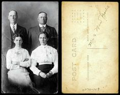 Portrait of Mr. and Mrs. Borlil and another couple    xxxx  State Archives #0770-149