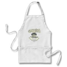 Baddies gold logo Evil Skull Clown with TopHat Apron
